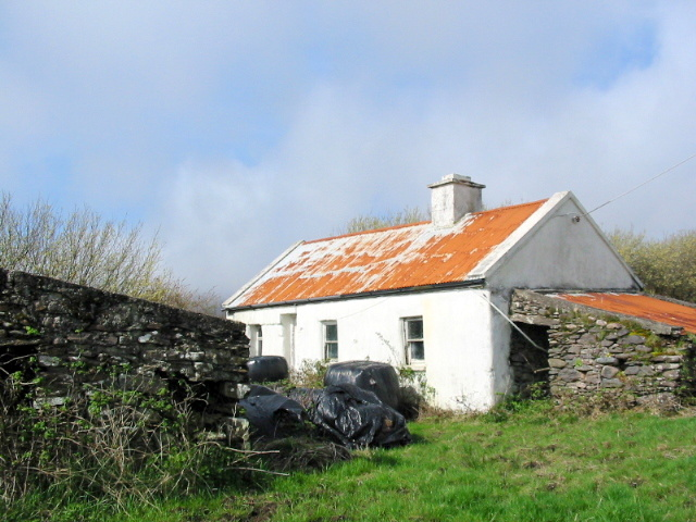 UNDER OFFER ~Traditional Cottage with Stone buildings and Sea Views ~ FOR SALE  At Ballinskelligs.